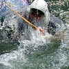 Jim, surfacing<br /> Fascination Alley<br /> Cheat River Narrows, West Virginia<br /> May 2009