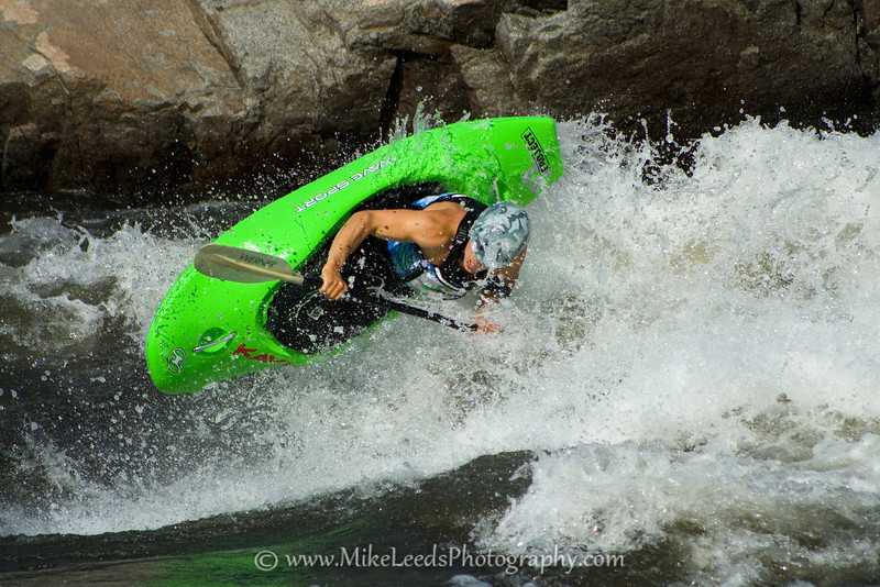 Will Parham with a huge Air-Blunt at Climax Surf Wave on the Main Payette River in Idaho.