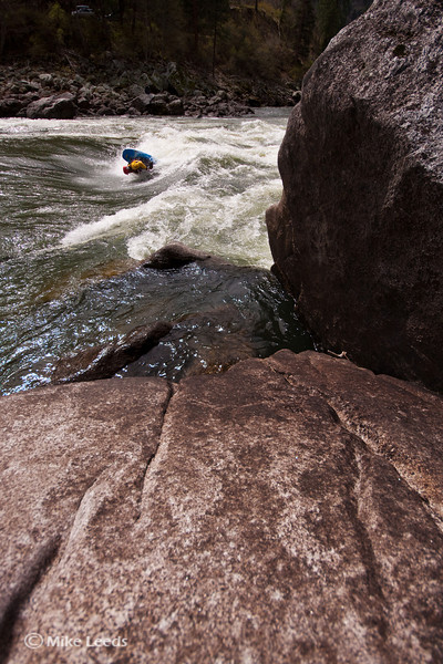"""Jesse Murphy with a """"Mc-Nasty"""" at Gold's Hole on the Main Salmon River, Idaho."""