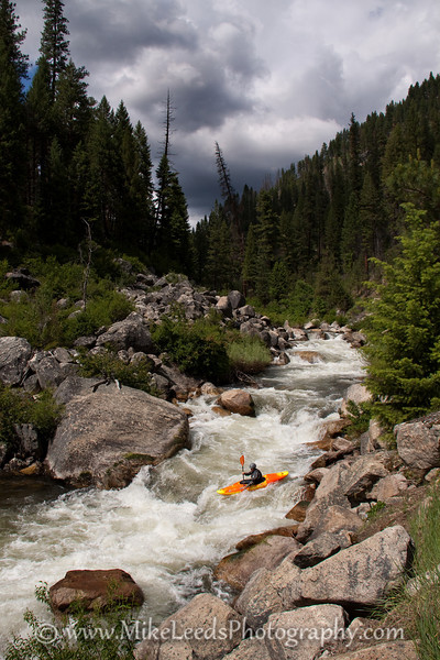 "James McLeod on the Middle Fork Payette River. ""the Steeps"""