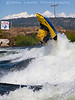 Stephen Wright with a huge Air Loop  during the USA Freestyle Kayaking Nationals at Kelly's Whitewater Park in Cascade Idaho.