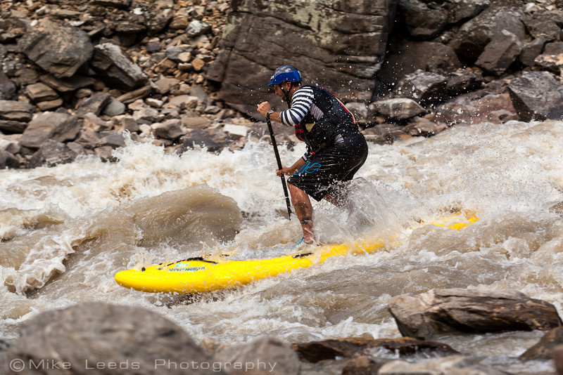 Ken Hoeve in Alder Creek Rapid on the Main Salmon River in Idaho.
