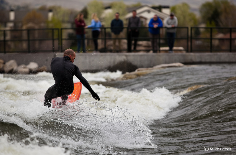 Chris Peterson making turns at the new Boise Whitewater Park