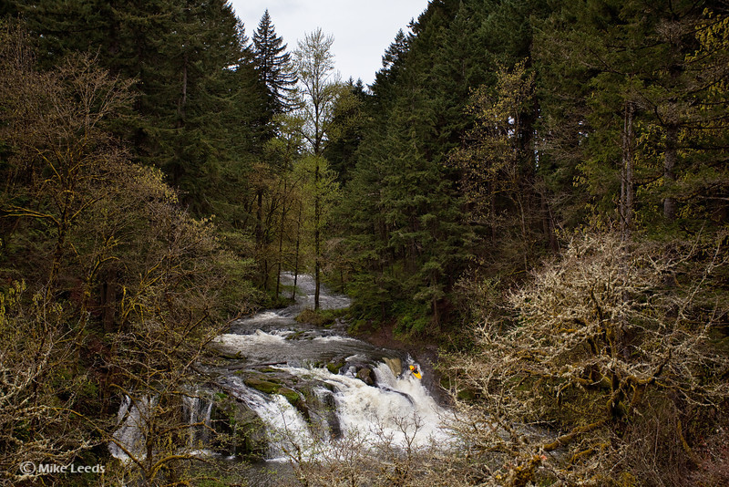 Brian Ward on the Lacamas River in Oregon.