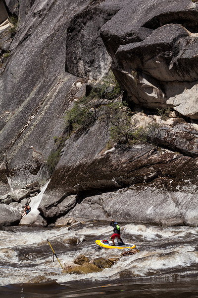 Michael Tavares in Blacks Creek Rapid on the Main Salmon River in Idaho