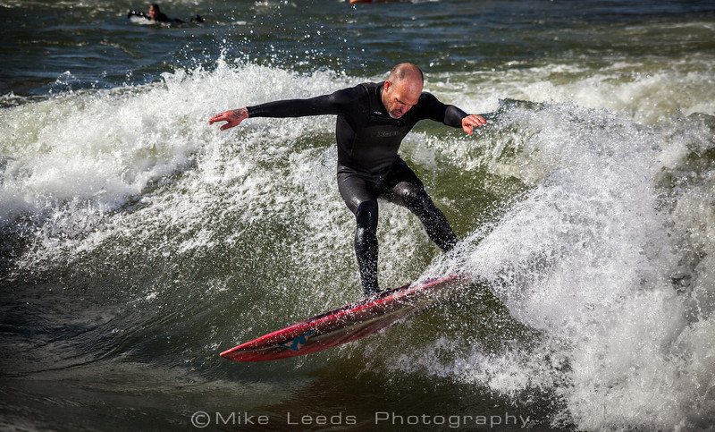 Chris Peterson shredding at the Boise Wave on an sunny April afternoon.
