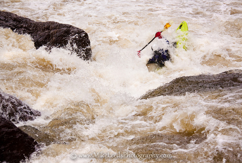 Preston Woods in Widowmaker Rapid on the Owyhee River in Oregon.