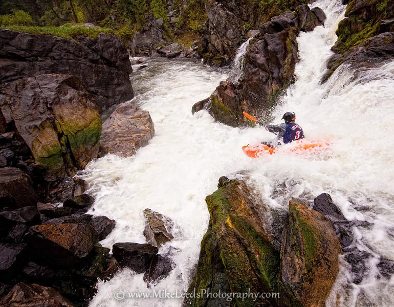 Paddler Tyler Allyn, Little Salmon River, Idaho.