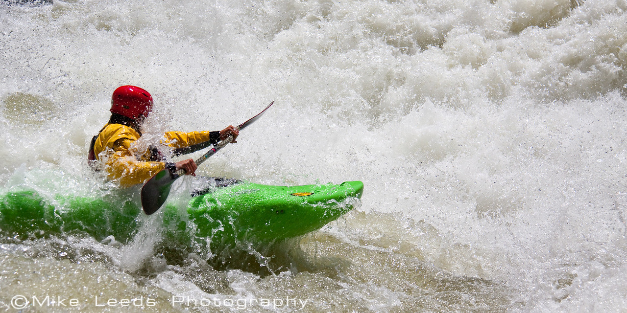 "Jesse Murphy in ""Nutcracker"" on the North Fork Payette River around 4,000cfs"