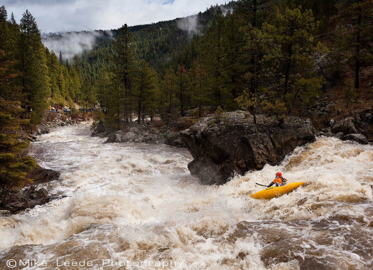 Brian Ward in the 1st big drop on the Little Salmon River, Idaho.