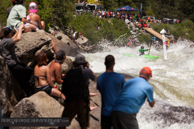 James Byrd racing down Jacob's Ladder approaching Rock Drop and the 1st two gates in the North Fork Championship 2013. photo: Mike Leeds Photography