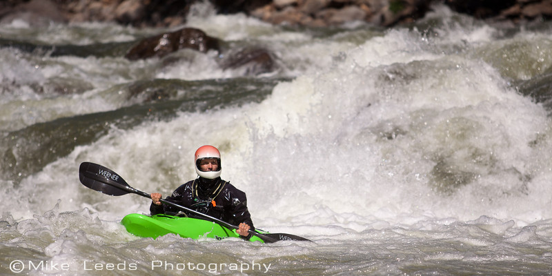"""Brian Ward in """"Jaws 3"""" on the North Fork Payette River, Idaho."""