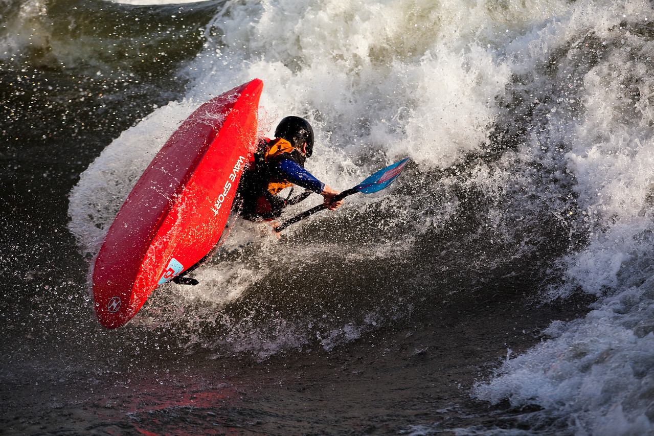 Will Parham going big at the  Bladder Wave on the Main Payette River, Idaho.