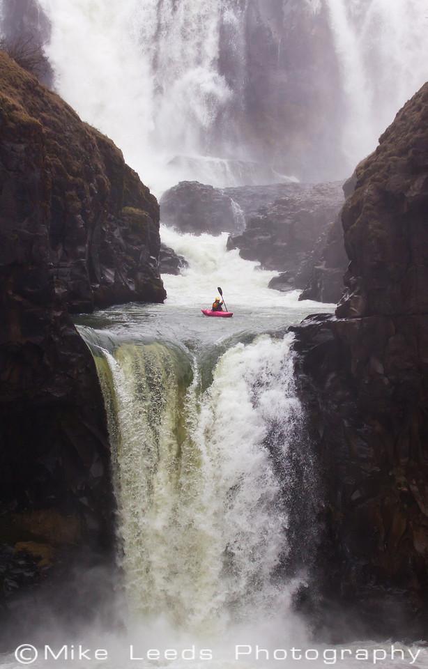 Ryan Bailey at Celestial Falls in Oregon.