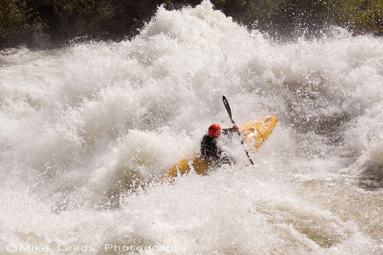 """Paddler Brian Ward in """"Nutcracker"""" on the North Fork Payette River, Idaho. approx 7,000cfs"""