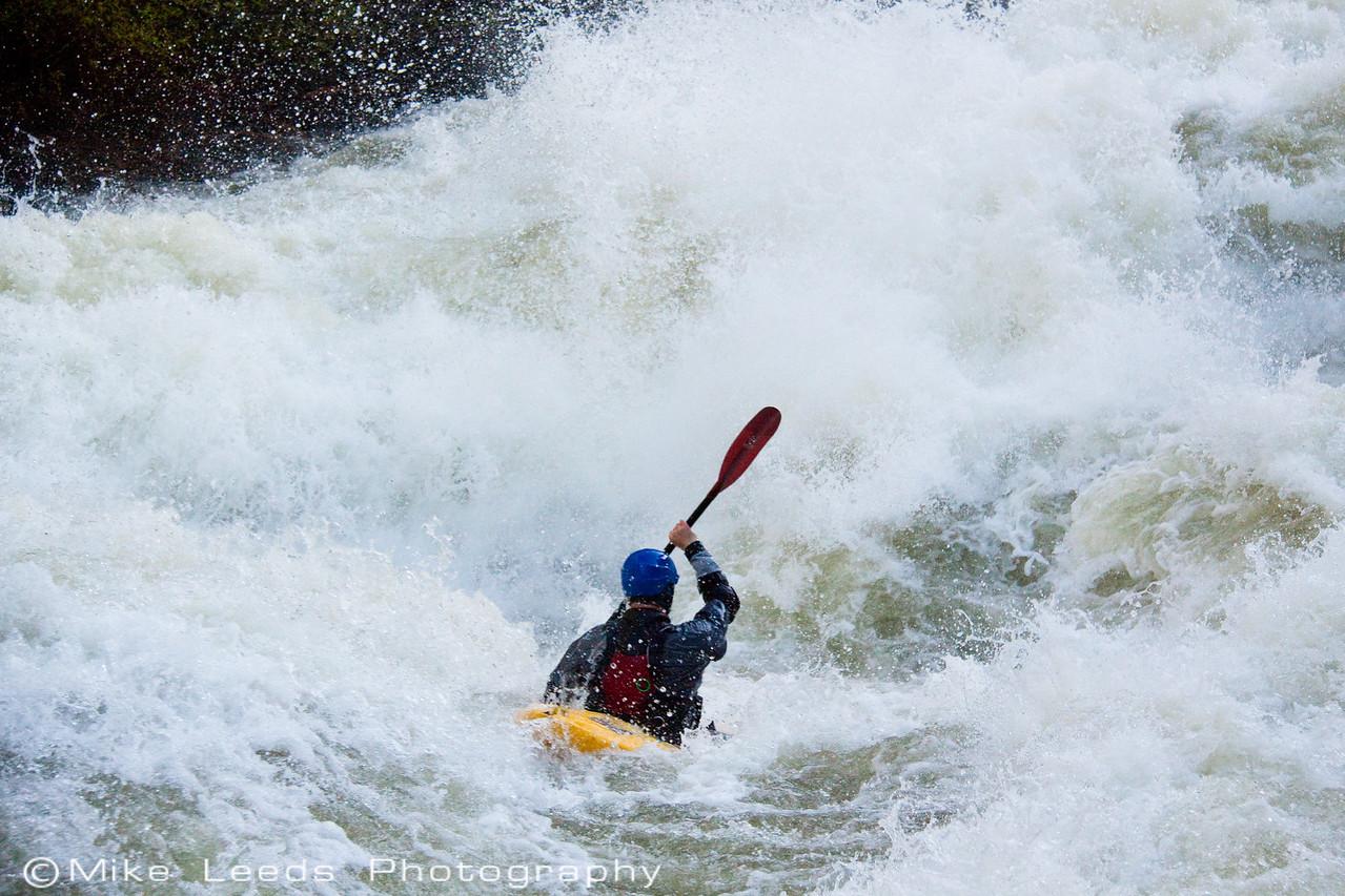 "Tristan McLaran in ""Nutcracker"" on the North Fork Payette River, Idaho.  7,000-8,000cfs."