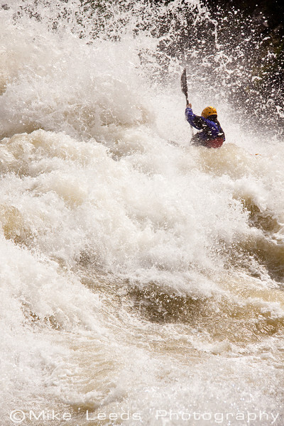 "Will Stubblefield in ""Juicer"" on the North Fork Payette River In Idaho. 8,000cfs"
