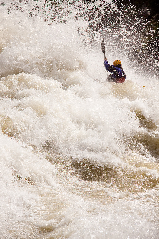 """Will Stubblefield in """"Juicer"""" on the North Fork Payette River In Idaho. 8,000cfs"""