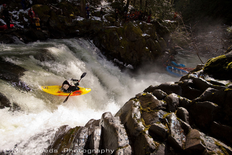 "Andy McMurray on ""Big Brother"", White Salmon River in Washington."