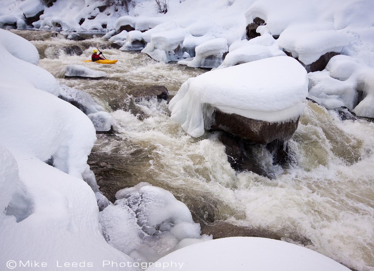 "Paddler Brian Ward, ""Nutcracker"", North Fork Payette River, Idaho."