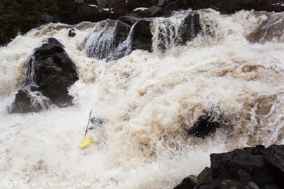 Tyler Allyn in the middle of Intimidator on the Little Salmon River in Idaho.