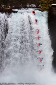 Kyle Hull sending it off Koosah Falls on the McKenzie River in Oregon