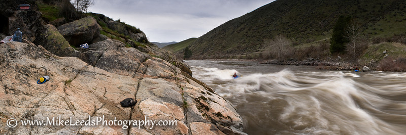 Climax Surf Wave on the Main Payette River in Idaho.