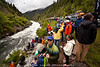 Crowd at the top of Jacob's Ladder during the North Fork Championship 2012.