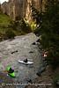Kayakers Aaron Wydra and Brian Ward below Sevy Falls on the Jarbidge River in Idaho.