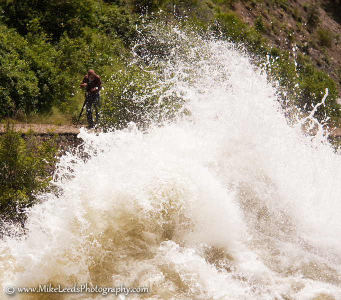 Skip Armstrong filming on the North Fork Payette River in Idaho.