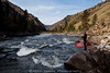 Chris Peterson taking a break at Golds Hole on the Main Salmon River in Idaho at perfect flows.