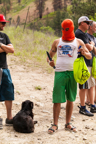 King Hesh at the Saftey meeting moments before racing the Expert Division in the North Fork Championship 2013