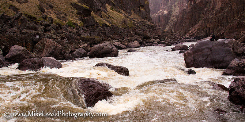 Brian Ward at Widowmaker Rapid on the Owyhee River in Oregon.
