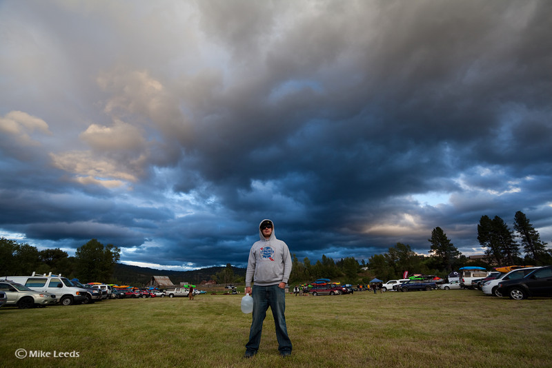 Jon Hyland hanging out in Crouch Idaho waiting for the party during the North Fork Championship 2012