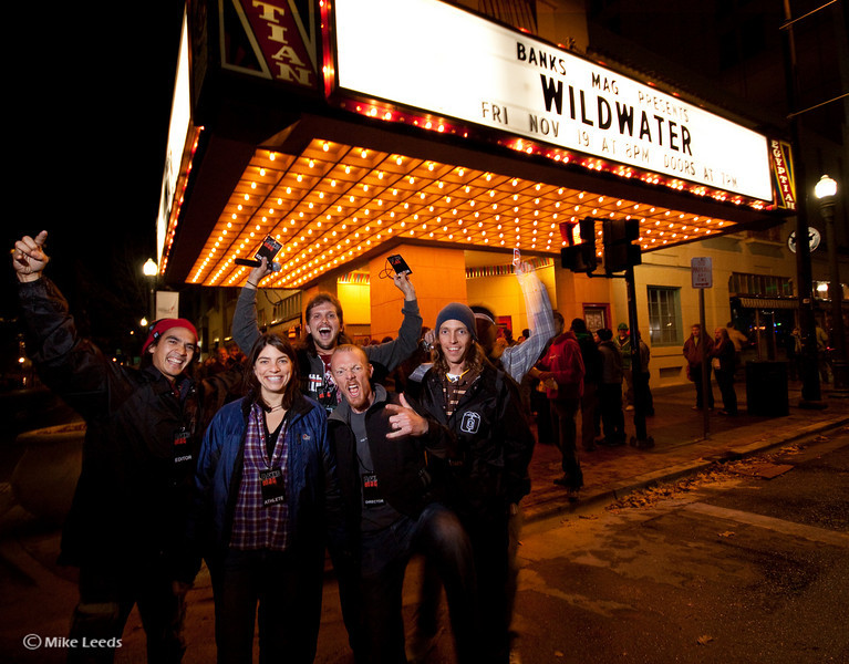 Ryan Bailey, Melissa Newell, Brian Ward, Anson Fogel, James Mcloed at the Wildwater Premiere in Boise Idaho.