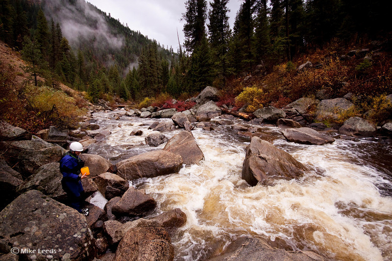 Preston Woods on the M.F. Payette on a stormy fall day