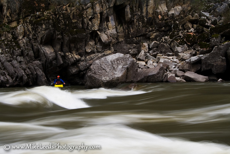 Gold Hole/Wave on the Main Salmon River in Idaho.