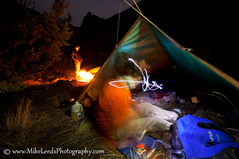 Brian Ward and Preston Woods at camp on the Owyhee River, Oregon.