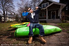 Galen Volckhausen chilling at the Airborn Kayaking House in Hood River Oregon.