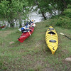 Lunch stop at a E/W cut across Mac Bayou. West connects to the Trinity River