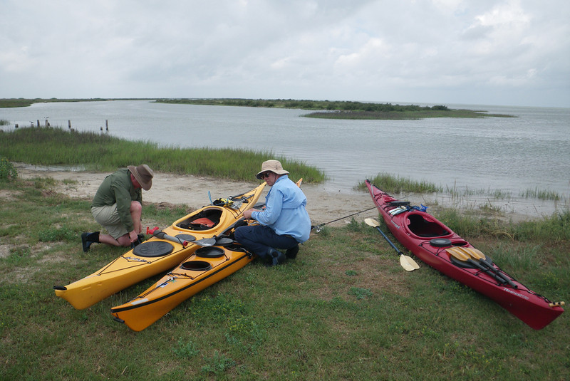 Locked and loaded for the 20-28 mph wind on our 14 mile Saturday paddle. We got lost once or twice.