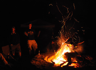 Steve, Josh and the fire