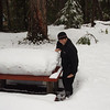 2.5' of snow still at the put in campground.  Didn't think we needed snowshoes to scout, but they would have useful here.
