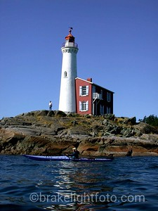 Kayaking Past Fisgard Lighthouse