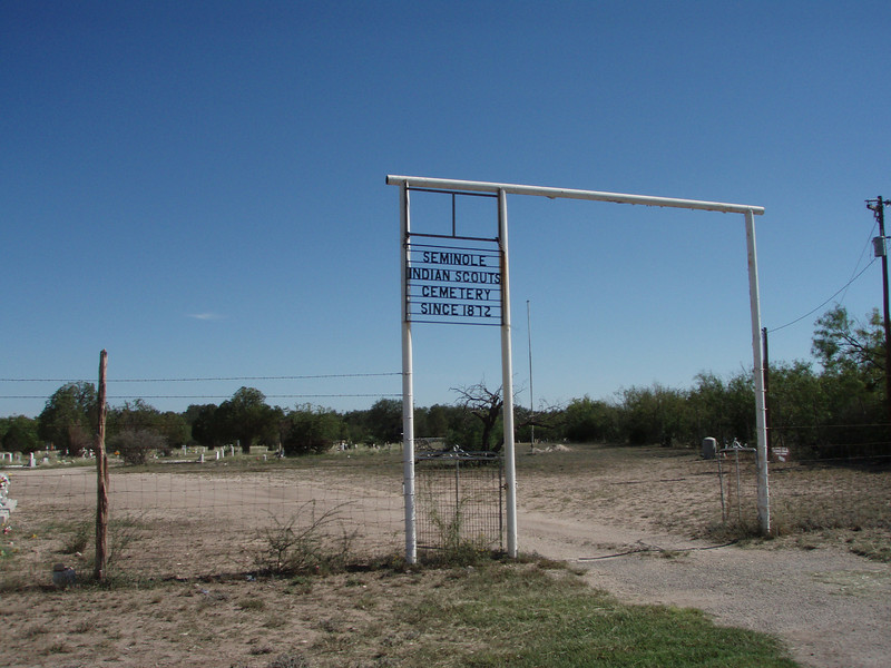 On the way we stopped at the Seminole Indian Negro Scout Cemetery near Del Rio. Several of them received the Congressional Medal of Honor for service just a few miles from where we camped on the river. Cemetery entrance 3 miles off Hwy 90 just west of Bracketville