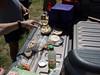 Dueling homemade hummus!