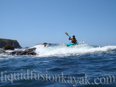 Whitewater Kayaking on Noyo Bay, Ft. Bragg, CA