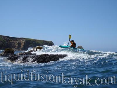 Whitewater Kayaking on Noyo Bay, Ft. Bragg, CA