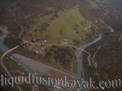 Bird's eye view of the confluence with Black Butte River.
