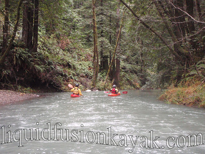 Jeff and Chuck take turns leading.  Chuck says exploring a new stretch of river is like opening presents . . . something new and maybe even a surprise around each bend.